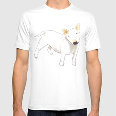 Bull Terrier Mens Fitted Tee White MEDIUM