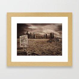 The End of Chicago Framed Art Print