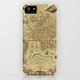 Ancient World Map #6 with Dragons - Jeanpaul Ferro iPhone Case