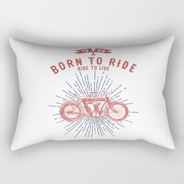 BORN TO RIDE Rectangular Pillow