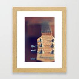 silent guitar Framed Art Print