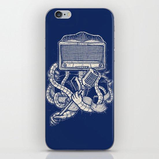 Rocker robot Navy iPhone & iPod Skin