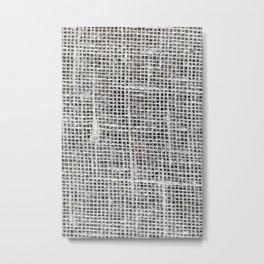 linen material Metal Print