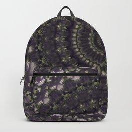 Brown and green mandala Backpack