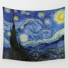 Starry Night by Vincent van Gogh Wall Tapestry