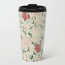 William Morris Cray Floral Pre-Raphaelite Vintage Art Nouveau Pattern Travel Mug