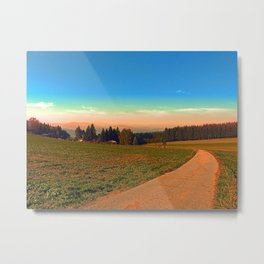 Hiking into the sunset | landscape photography Metal Print