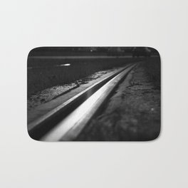 Abstract view on the railroad Bath Mat