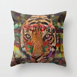 Seeing Eye Tiger Throw Pillow
