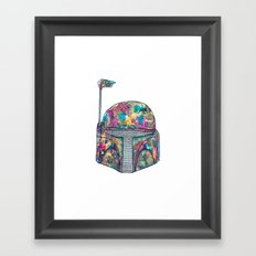 Boba Fett Galaxy Framed Art Print