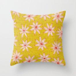 sema yellow fire orange Throw Pillow