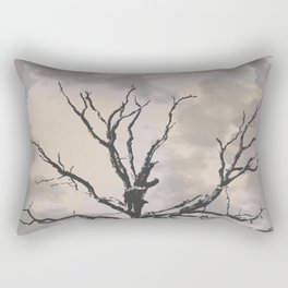 Stormy Skies, Abstract Art Tree Storm Clouds Rectangular Pillow