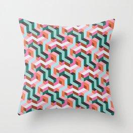 Matrix Desert Pink Throw Pillow
