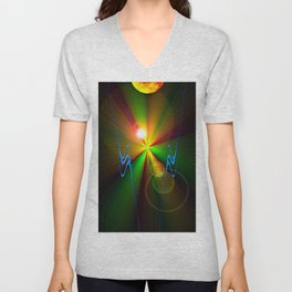 Light show 3 Unisex V-Neck