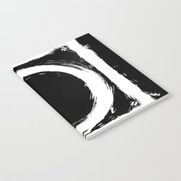Black and white circle splatter Notebook