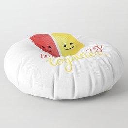 We Belong Together Floor Pillow