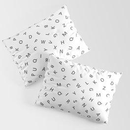 The Missing Letter Alphabet W&B Pillow Sham