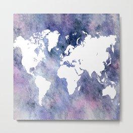 Design 65 world map Metal Print