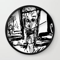 christ Wall Clocks featuring Zombie Christ by Dandy Jon