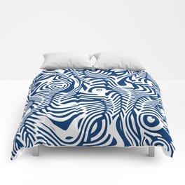Navy Bones Comforters