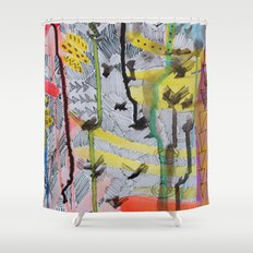 One, two, three Shower Curtain