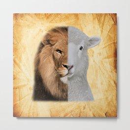 The Lion and the Lamb Yeshua Messiah Metal Print