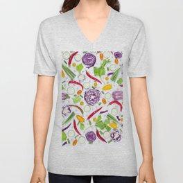Vegetables pattern (5) Unisex V-Neck