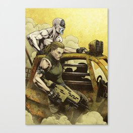 Bettin Tazio for Mad Max Fury Draw Canvas Print