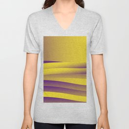Yellow waves Unisex V-Neck