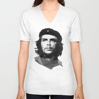che V-neck T-shirts featuring Che by Poly Iconik Art