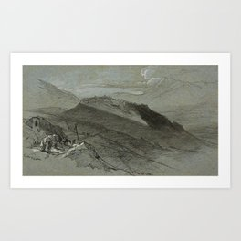 Edward Lear (1812 - 1888)  Civita d'Antino, 1844 Art Print