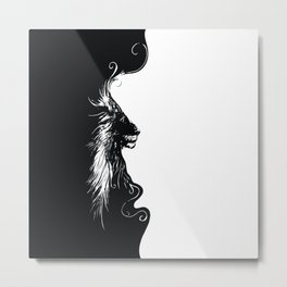Lines of Lion Metal Print