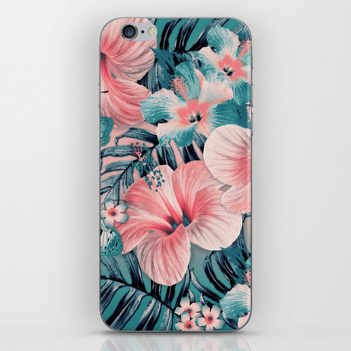 Vintage Jade Coral Aloha iPhone Skin