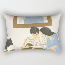 You and me and the music Rectangular Pillow