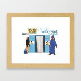 Salon de coiffure Framed Art Print
