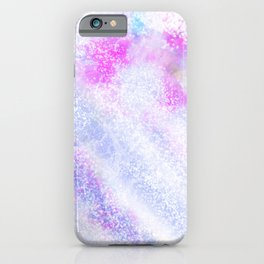 Modern Abstract Pink lavender Lilac Glitter iPhone Case