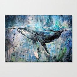 Whale Art Canvas Print