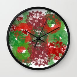 Christmas Wreath Collage Wall Clock