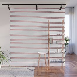 Simply Drawn Stripes Rose Quartz Elegance Wall Mural