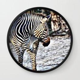Painted Zebra 11218 Wall Clock