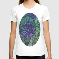 potato T-shirts featuring Percolated Purple Potato Flower by Charma Rose