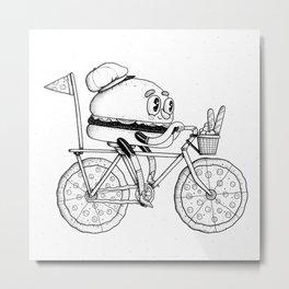 Pizzabike Burger Metal Print