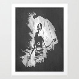 Puppet Stencil Art Print