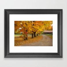 The driveway Framed Art Print