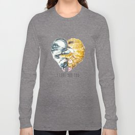 Cats Love . Valentine's Day Long Sleeve T-shirt