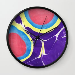 Marbled Color Wall Clock