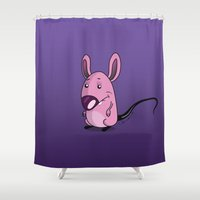 mouse Shower Curtains featuring Mouse by jebirvoki
