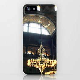 Hagia Sophia Decorated Dome and Ottoman Chandeliers iPhone Case