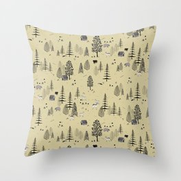 Forrest Pattern Throw Pillow