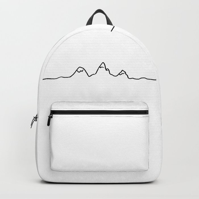 mountains line Backpack